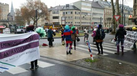 Straßenbesetzung 25.11. Köln