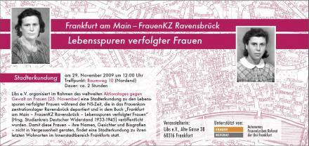 Lebenswege von Frankfurt nach Ravensbrück 2009